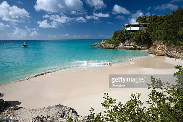 meads bay, anguilla - baía - fotografias e filmes do acervo