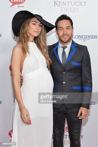 Meagan Camper and musician Pete Wentz attend 140th Kentucky Derby at Churchill Downs on May 3 2014 in Louisville Kentucky
