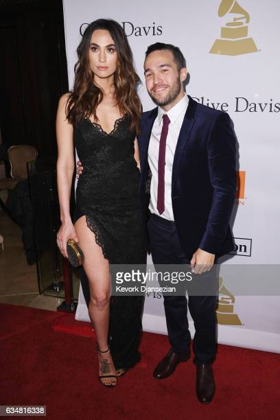 Meagan Camper and musician Pete Wentz of music group Fall Out Boy attend PreGRAMMY Gala and Salute to Industry Icons Honoring Debra Lee at The...