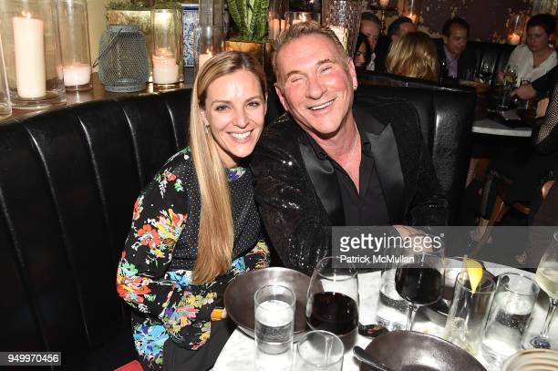 Meagan Del Valle and Hal Rubenstein attend Billy Macklowe's 50th Birthday Spectacular at Chinese Tuxedo on April 21 2018 in New York City