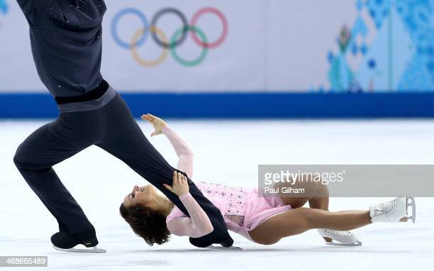Meagan Duhamel and Eric Radford of Canada compete during the Figure Skating Pairs Short Program on day four of the Sochi 2014 Winter Olympics at...