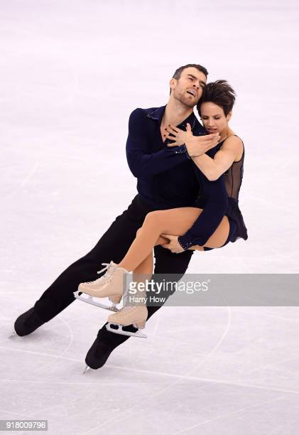 Meagan Duhamel and Eric Radford of Canada compete during the Pair Skating Short Program on day five of the PyeongChang 2018 Winter Olympics at...