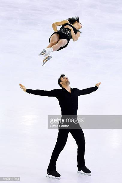 Meagan Duhamel and Eric Radford of Canada compete in Free Skating Pairs Final during day three of the ISU Grand Prix of Figure Skating Final...