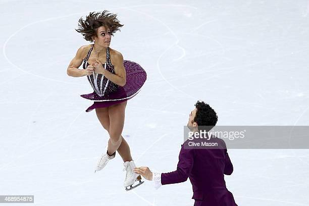 Meagan Duhamel and Eric Radford of Canada compete in the Figure Skating Pairs Free Skating during day five of the 2014 Sochi Olympics at Iceberg...