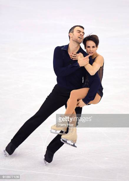Meagan Duhamel and Eric Radford of Canada compete in the Figure Skating Team Event Pair Skating Short Program during the PyeongChang 2018 Winter...