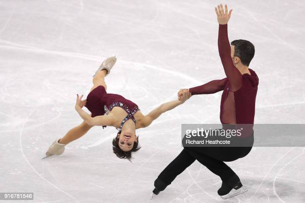 Meagan Duhamel and Eric Radford of Canada compete in the Figure Skating Team Event – Pairs Free Skating on day two of the PyeongChang 2018 Winter...