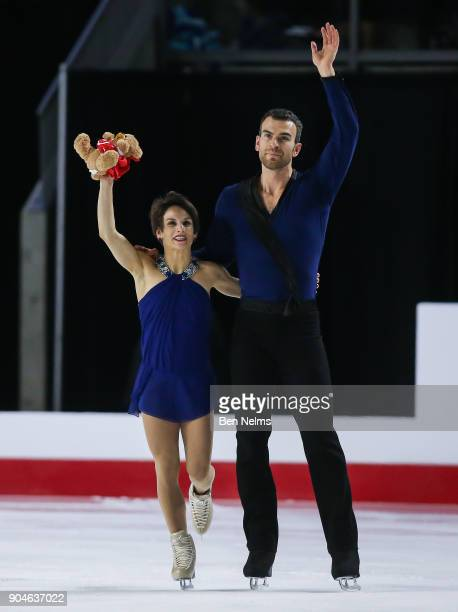 Meagan Duhamel and Eric Radford of Canada compete in the free pair program during the 2018 Canadian Tire National Skating Championships game at the...