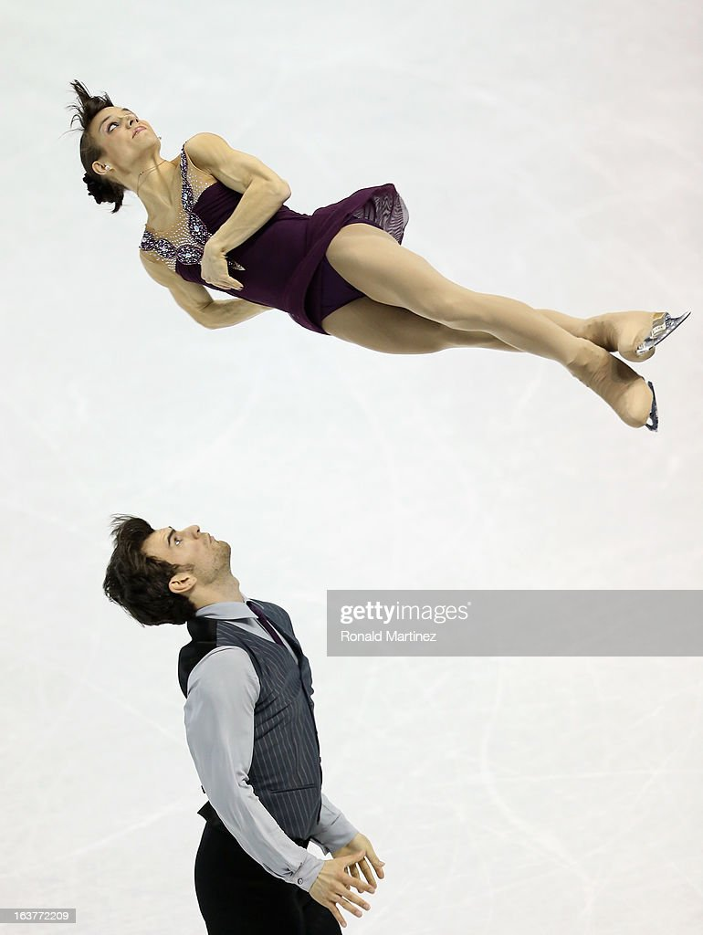 Meagan Duhamel and Eric Radford of Canada compete in the Pairs Free Skating during the 2013 ISU World Figure Skating Championships at Budweiser Gardens on March 15, 2013 in London, Canada.