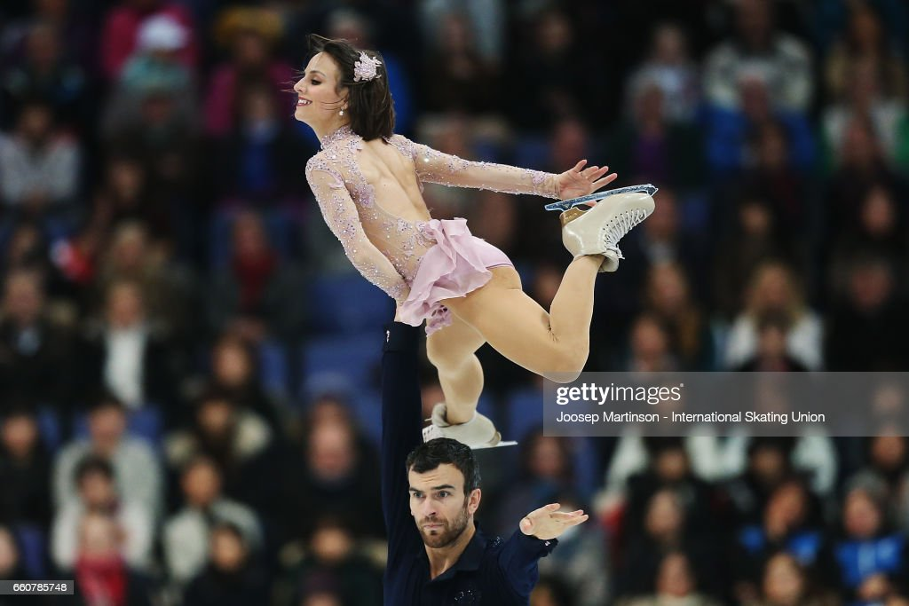 Meagan Duhamel and Eric Radford of Canada compete in the Pairs Free Skating during day two of the World Figure Skating Championships at Hartwall Arena on March 30, 2017 in Helsinki, Finland.