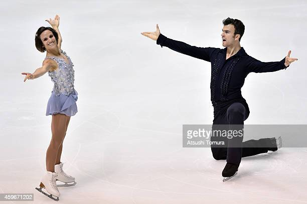 Meagan Duhamel and Eric Radford of Canada compete in the Pairs Short Program during day one of ISU Grand Prix of Figure Skating 2014/2015 NHK Trophy...