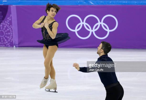 Meagan Duhamel and Eric Radford of Canada during the Figure Skating Pairs Skating Short Program on day five of the PyeongChang 2018 Winter Olympic...