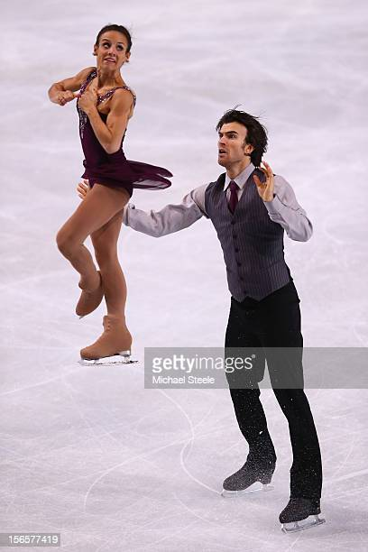 Meagan Duhamel and Eric Radford of Canada during the Pairs Free Skating Program on day two of the ISU Grand Prix of Figure Skating Trophee Eric...