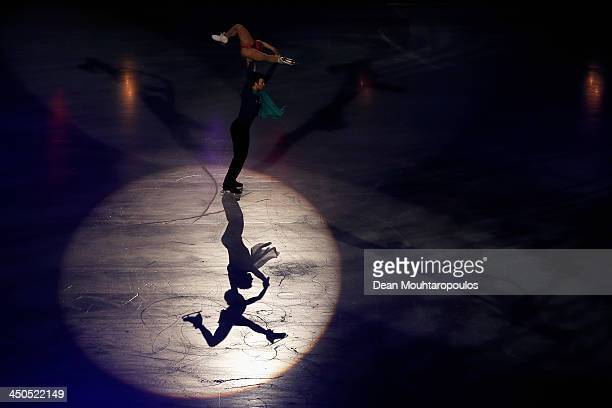 Meagan Duhamel and Eric Radford of Canada perform during in the Gala Exhibition on day three of Trophee Eric Bompard ISU Grand Prix of Figure Skating...