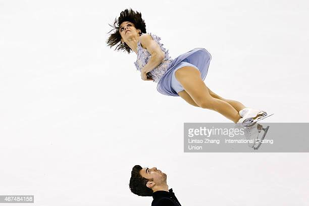 Meagan Duhamel and Eric Radford of Canada perform during the Pairs Short Program on day one of the 2015 ISU World Figure Skating Championships at...
