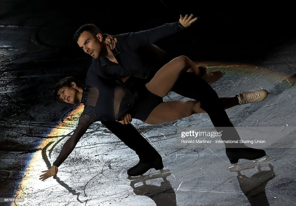 Meagan Duhamel and Eric Radford of Canada perform in the exhibition gala during the ISU Grand Prix of Figure Skating at Brandt Centre on October 29, 2017 in Regina, Canada.