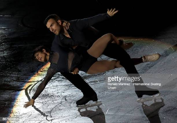 Meagan Duhamel and Eric Radford of Canada perform in the exhibition gala during the ISU Grand Prix of Figure Skating at Brandt Centre on October 29...