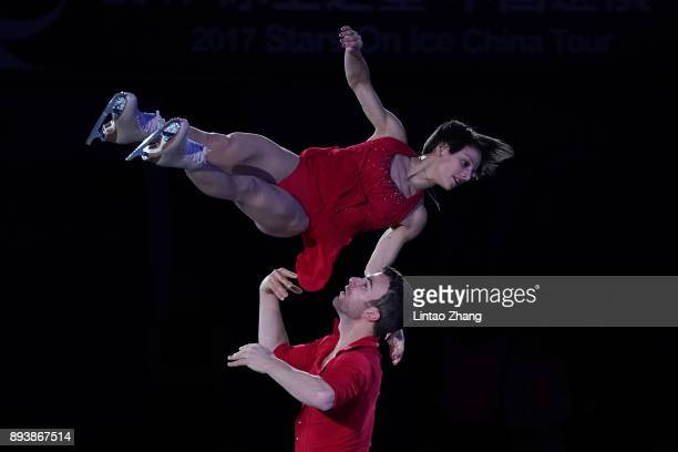Meagan Duhamel and Eric Radford of Canada perform performs during the Stars On Ice 2017 China Tour at Beijing Capital Gymnasium on December 16 2017...