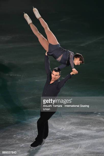 Meagan Duhamel and Eric Radford of Canada perform their routine in the Gala exhibition during the ISU Junior Senior Grand Prix of Figure Skating...
