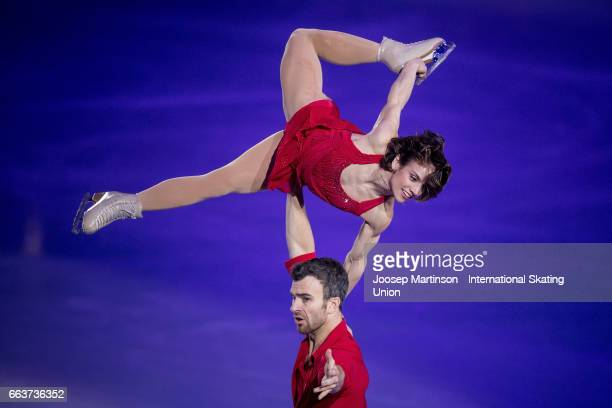 Meagan Duhamel and Eric Radford of Canada performs in the gala exhibition during day five of the World Figure Skating Championships at Hartwall Arena...