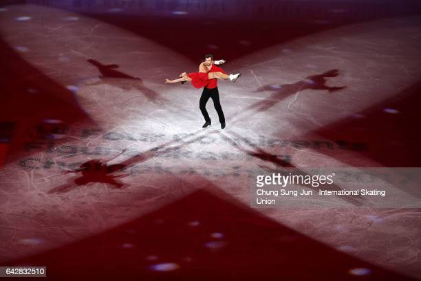 Meagan Duhamel and Eric Radford of Canada skate in the Exhibition program during ISU Four Continents Figure Skating Championships Gangneung Test...