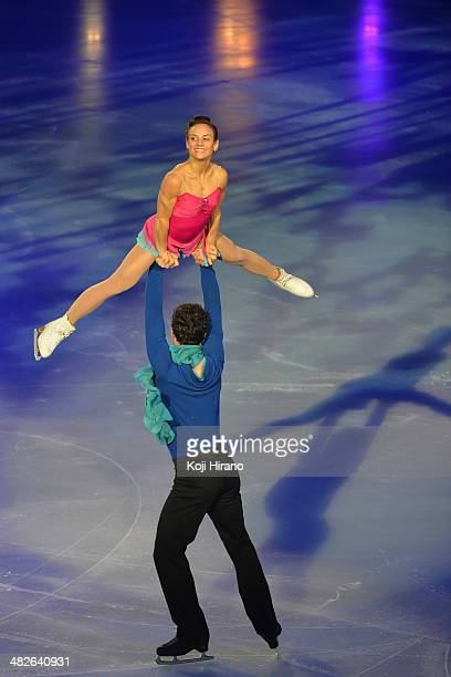 Meagan Duhamel and Eric Radford of the Canada perform during the Gala Exhibition on day three of Trophee Eric Bompard ISU Grand Prix of Figure...