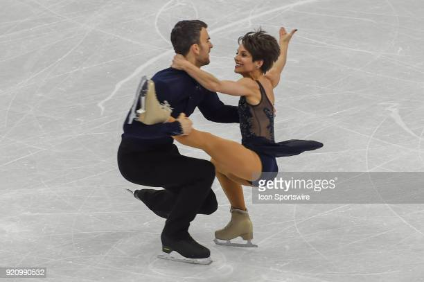 Meagan Duhamel and Eric Radford perform during the Pairs Short Program during the 2018 Winter Olympic Games at Gangneung Ice Arena on February 14...