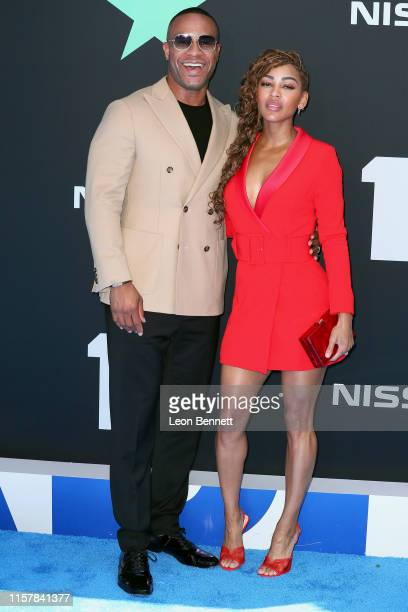 Meagan Good and DeVon Franklin attend the 2019 BET Awards on June 23 2019 in Los Angeles California