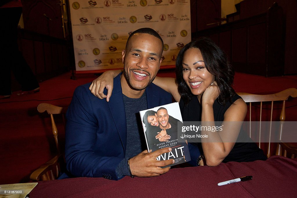 """Meagan Good And DeVon Franklin Book Signing For """"The Wait"""" : News Photo"""
