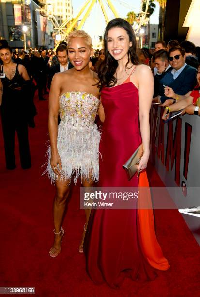 Meagan Good and Grace Fulton attend the Warner Bros Pictures And New Line Cinema's World Premiere Of SHAZAM at TCL Chinese Theatre on March 28 2019...