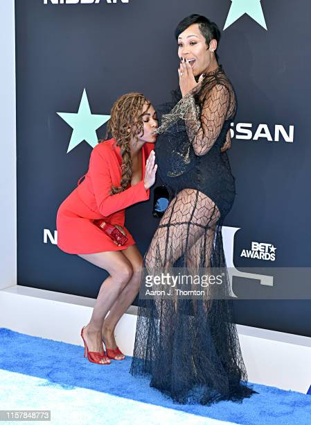 Meagan Good and La'Myia Good attend the 2019 BET Awards on June 23 2019 in Los Angeles California