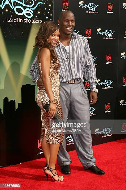 Meagan Good and Tyrese Gibson during 2006 BET Awards Arrivals at The Shrine in Los Angeles California United States