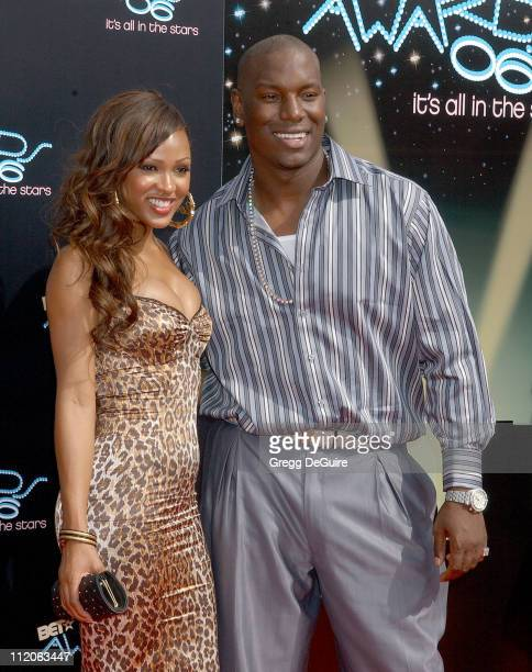Meagan Good and Tyrese Gibson during 6th Annual BET Awards Arrivals at Shrine Auditorium in Los Angeles CA United States