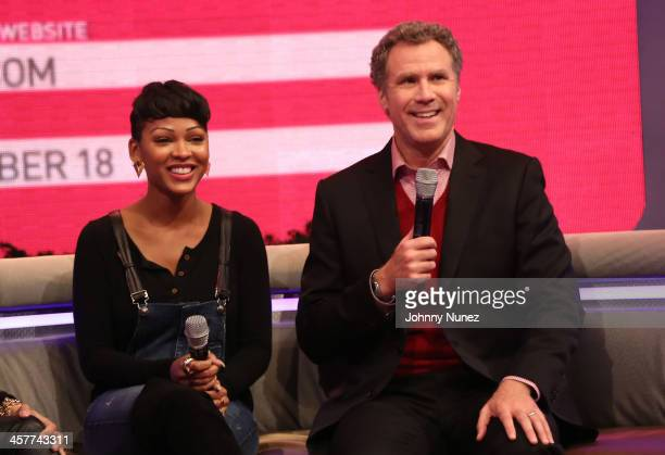 Meagan Good and Will Ferrell visit BET's '106 Park' at BET Studios on December 17 2013 in New York City