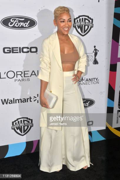 Meagan Good arrives at the 2019 Essence Black Women In Hollywood Awards at the Beverly Wilshire Four Seasons Hotel on February 21, 2019 in Beverly...