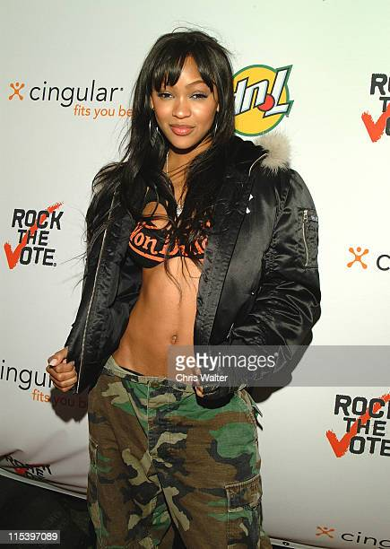 Meagan Good during 11th Annual Rock The Vote Awards Arrivals at Hollywood Palladium in Hollywood California United States