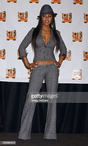 Meagan Good during 18th Annual Soul Train Music Awards Press Room at International Cultural Center in Los Angeles California United States