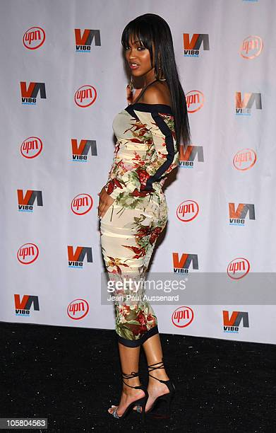 Meagan Good during 2003 VIBE Awards Pressroom at Civic Auditorium in Santa Monica California United States