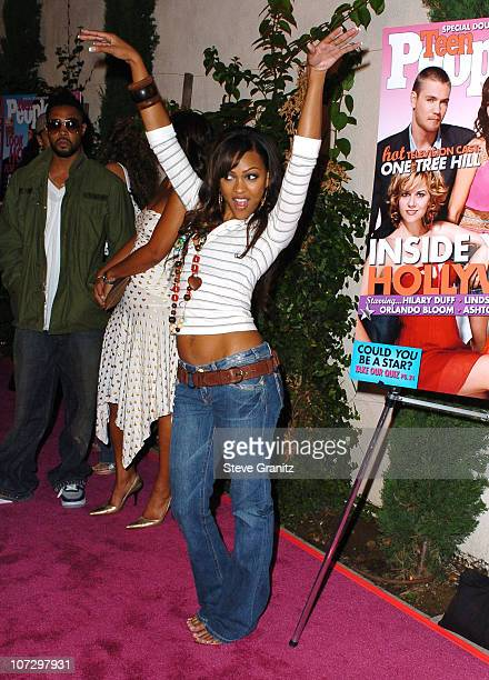 Meagan Good during Teen People Celebrates 2nd Annual Young Hollywood Issue Sponsored by EA Games and Baby Phat Arrivals at Cabana Club in Hollywood...