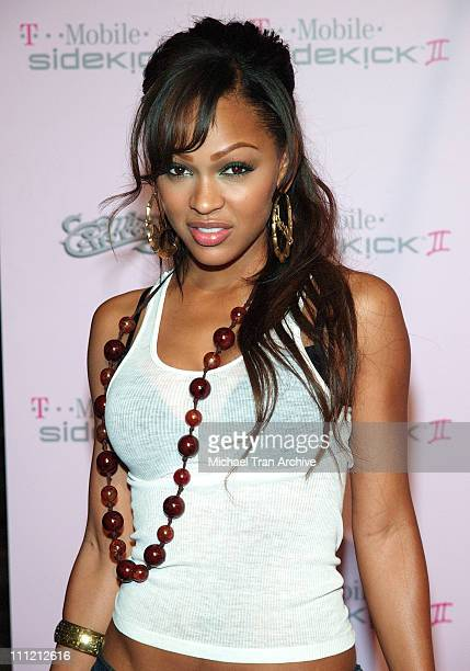 Meagan Good during TMobile Limited Edition Sidekick II Launch Arrivals at TMobile Sidekick II City in Los Angeles California United States