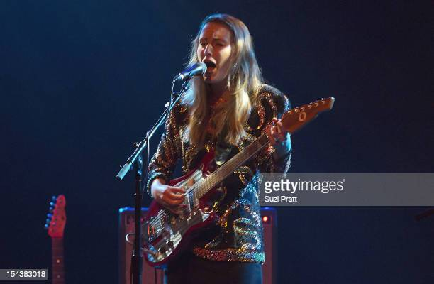 Meagan Grandall and Kendra Cox of Lemolo perform live at the Triple Door on October 18 2012 in Seattle Washington