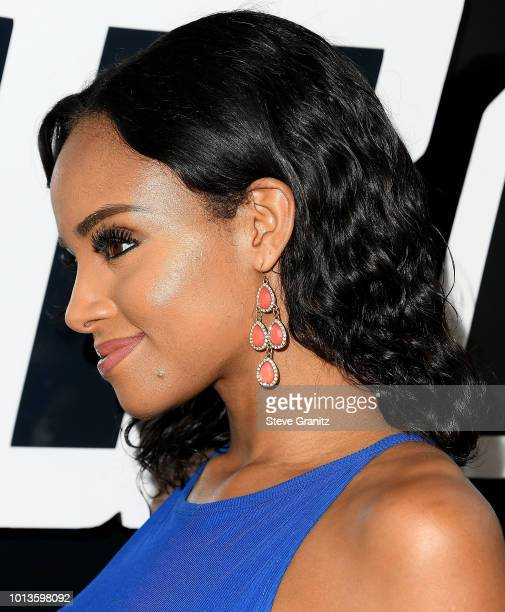 Meagan Tandy arrives at the Premiere Of Focus Features' 'BlacKkKlansman' at Samuel Goldwyn Theater on August 8 2018 in Beverly Hills California