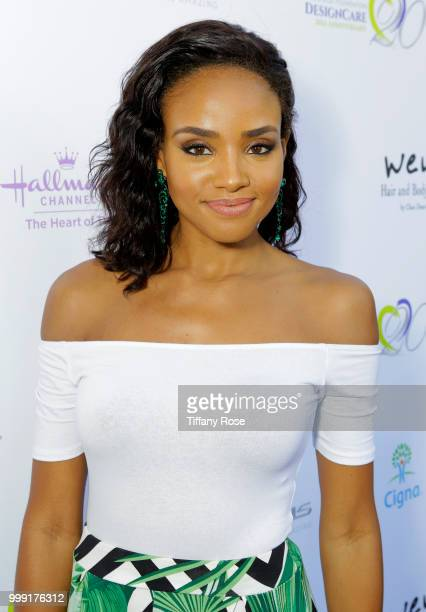 Meagan Tandy attends the HollyRod 20th Annual DesignCare at Cross Creek Farm on July 14 2018 in Malibu California