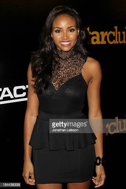 Meagan Tandy attends the J Cole Performs At Footaction's Own The Stage Celebration at W Hollywood on October 19 2012 in Hollywood California