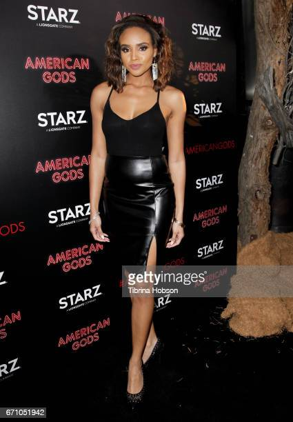 Meagan Tandy attends the premiere of Starz's 'American Gods' at ArcLight Cinemas Cinerama Dome on April 20 2017 in Hollywood California