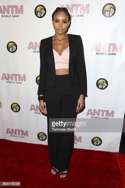 Meagan Tandy attends the Tyra Banks And Ace King Productions Celebrate The Release Of The America's Next Top Model Mobile Game at Avalon on May 3...