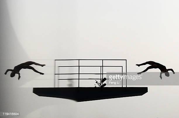 Meaghan Benfeito of Canada competes in the Women's 10m Platform semi final during Day Five of the 14th FINA World Championships at the Oriental...