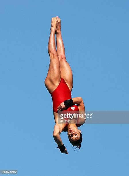 Meaghan Benfeito of Canada dives during the Womens Platform Semi Final during Day 1 of the ATT USA Diving Grand Prix at the Fort Lauderdale Aquatic...