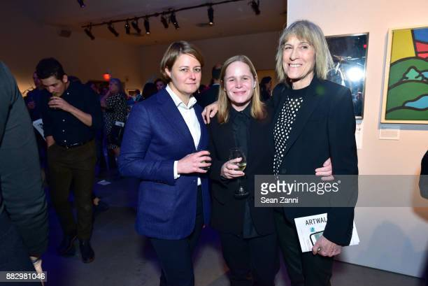 Meaghan Gragg Hanna Liden and Linda Yablonsky attend the 2017 ARTWALK NY Benefiting Coalition for the Homeless at Spring Studios on November 29 2017...