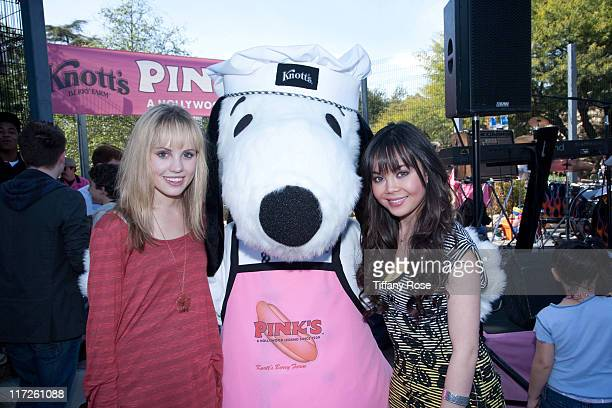 Meaghan Jette Martin and Anna Marina Perez de Tagle attend Pink's Grand Opening at Knott's Berry Farm on February 28 2010 in Buena Park California