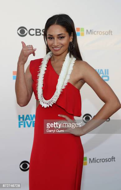 Meaghan Rath attends the Sunset on the Beach event celebrating season 8 of Hawaii Five0 at Queen's Surf Beach on November 10 2017 in Waikiki Hawaii